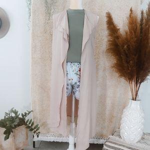Long blush vest